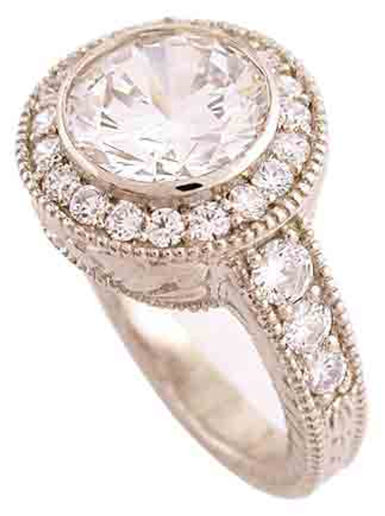 Heavy 14k White Gold Engagment Ring