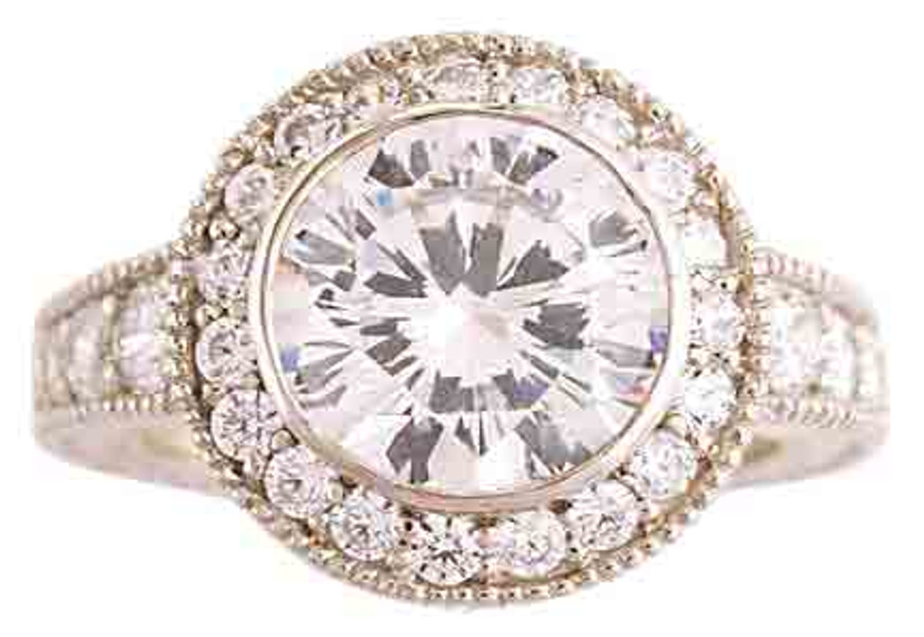 Stunning 2 Carat Cubic Zirconia Engagement Ring