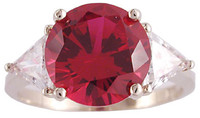 Hand Cut & Polished Ruby Cubic Zirconia