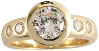 1 Carat Bezel Set Round CZ Wedding Set