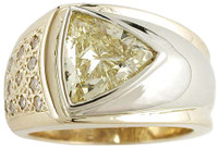 Hand Cut & Polished Canary Cubic Zirconia