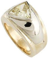 1.50Ct Trillion Canary Cubic Zirconia Men's Ring