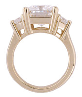14Kt Yellow Gold 6.00Ct Antique Cushion Cut Ring