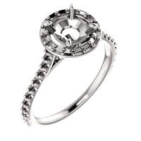 Customizable 14 Karat White Gold Engagement Ring
