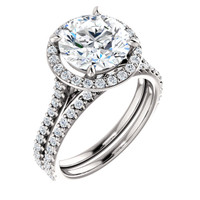 3 Carat Round Halo Engagement Ring