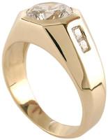 2.50 Carat Round Flat Set CZ Men's Ring