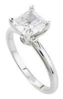 1 Carat Princess Cut CZ Solitaire Engagement Ring