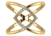 CZ Criss Cross Ring