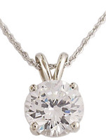 Brilliant Cut 2.50Ct Round Cubic Zirconia Pendant