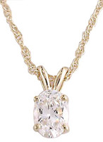 .75Ct High Quality Oval Cubic Zirconia Pendant