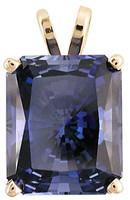 6.50Ct Radiant Cut Sapphire CZ Pendant