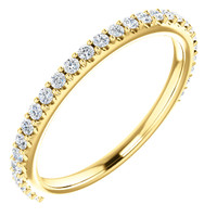 Stackable Band in Solid 14 Karat Yellow Gold
