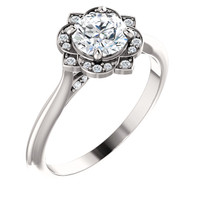 Gorgeous Cubic Zirconia Engagement Ring