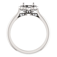 14 Karat White Gold Engagement Ring