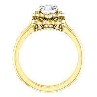 Solid 14 Karat Yellow Gold Cubic Zirconia Wedding Set