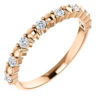 Solid 14 Karat Rose Gold Stackable Band