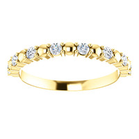 Stackable Bridal Band in Solid 14 Karat Yellow Gold