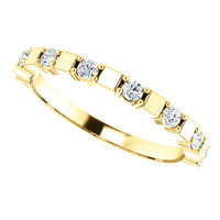 Lovely Cubic Zirconia Half Eternity Band