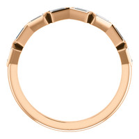 Solid 14 Karat Rose Gold Wedding Band