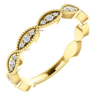 Highest Quality Cubic Zirconia Stackable Wedding Band