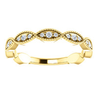 Flawless Cubic Zirconia Stackable Band