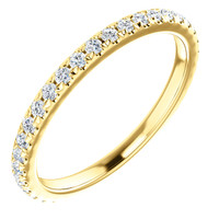 Highest Quality Cubic Zirconia Stackable Eternity Band