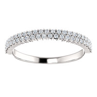 Stunning Cubic Zirconia Stackable Anniversary Band