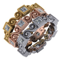 Gorgeous Bezel Set Stackable Bands