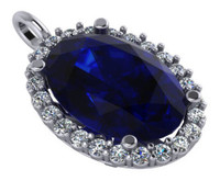 Hand Cut & Polished Sapphire Blue Oval Cubic Zirconia