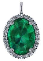 Hand Cut & Polished 8 Carat Emerald Green Oval Cubic Zirconia