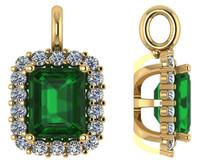 Flawless 1.50Ct Emerald Cut Emerald Green Cubic Zirconia
