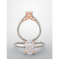 Gorgeous Isadora Hidden Bow Two-Tone Solitaire Engagement Ring
