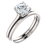 Hand Cut & Polished 1 Carat Cubic Zirconia Solitaire Wedding Set