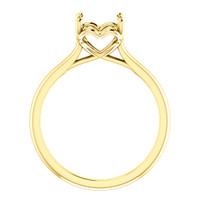 Solid 14 Karat Yellow Gold Hidden Heart Setting