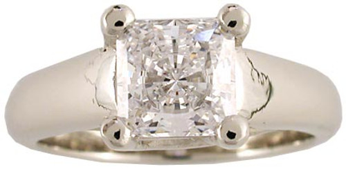 1 Carat Princess Cut Solitiare Engagement Ring