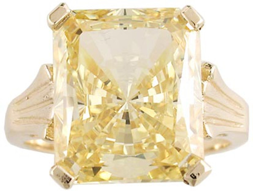 Stunning Fancy Yellow Cubic Zirconia of the Highest Quality