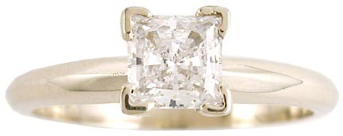 .50 Carat Princess Cut in 14 Karat White Gold