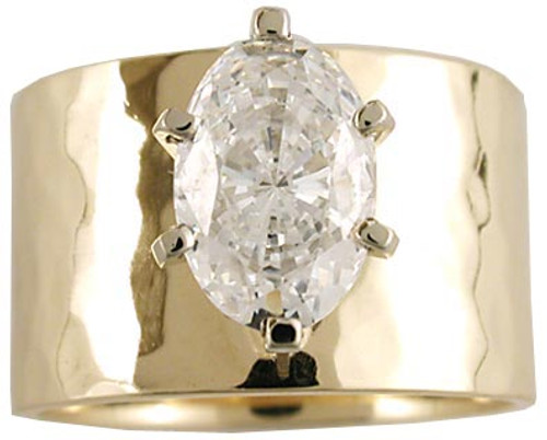1.50 Carat Special Cut Oval CZ on 12mm Band