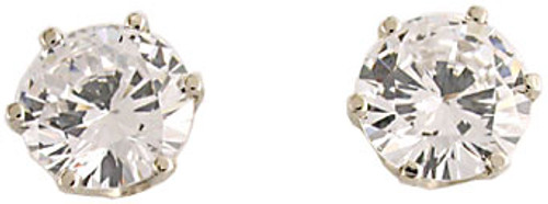 2.00Ct 4.00 TCW 14Kt White Gold Round Studs