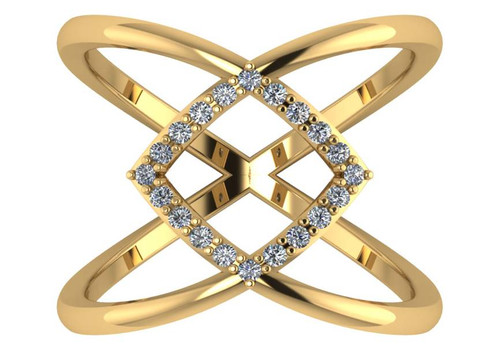 CZ Criss Cross Ring