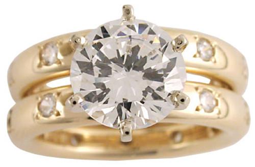 2.00Ct Round Engagement Ring Set