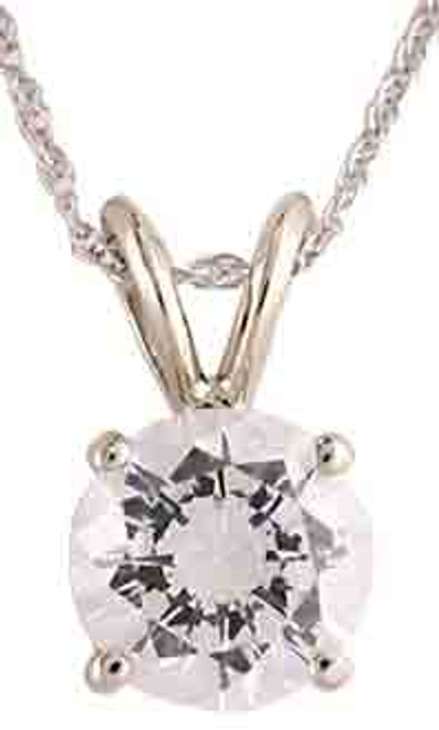 Stunning 3.00Ct Round Special Cut Cubic Zirconia Pendant