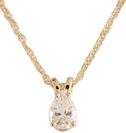 .50Ct Hand Cut & Polished Cubic Zirconia Pear Pendant