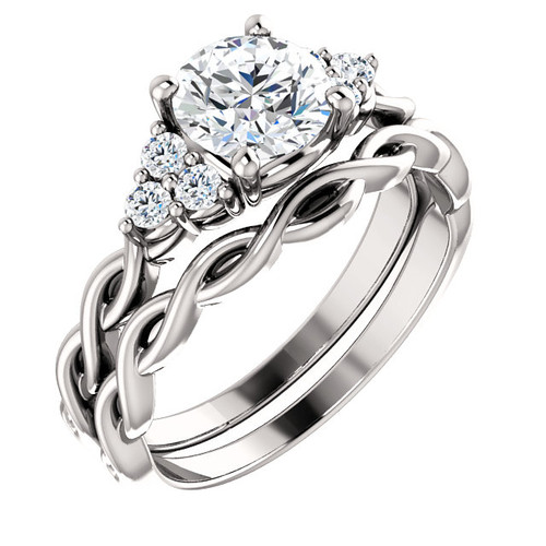 Brilliant Cubic Zirconia Wedding Set