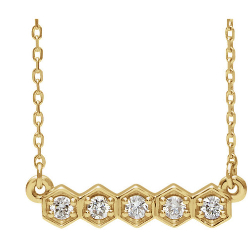 Highest Quality Cubic Zirconia Necklace in 14 Karat Yellow Gold