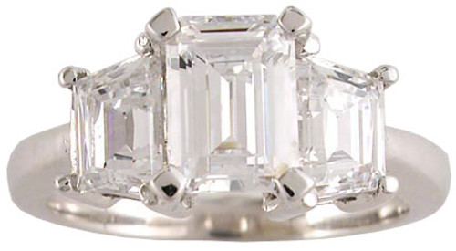 1 Carat Emerald Cut in Solid 14k Gold