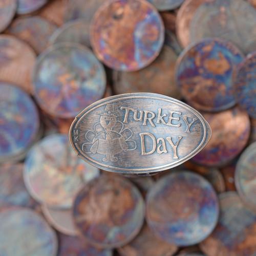 Pressed Copper Penny - Turkey Day