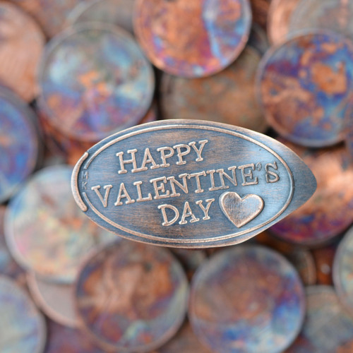 Pressed Copper Penny - Happy Valentine's Day