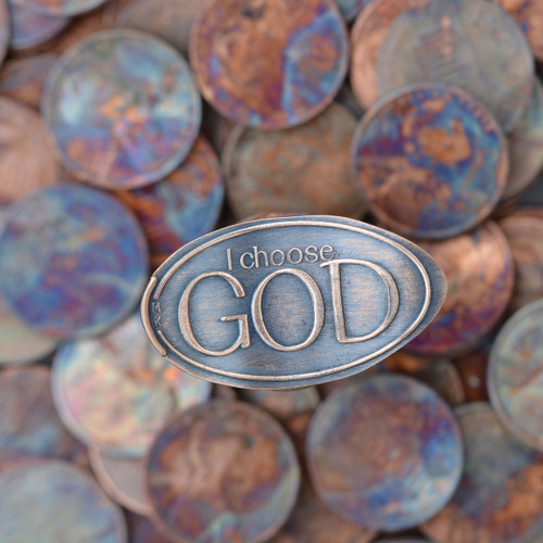 Pressed Copper Penny - I Choose God