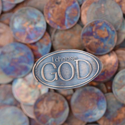 Pressed Copper Penny - I Choose God